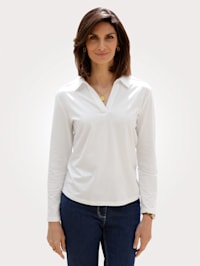 Shirt met polokraag