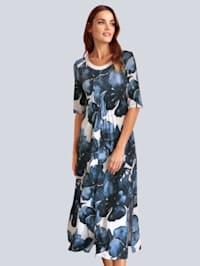 Kleid im farbharmonischem Blumdendruck