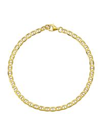Bracelet maille jaseron en or jaune 585