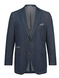 Veste de costume en jean dans une matière estivale