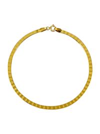 Bracelet maille Herringbone en alliage or jaune 333