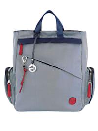 Rucksack mit diagonalem Reißverschlussfach