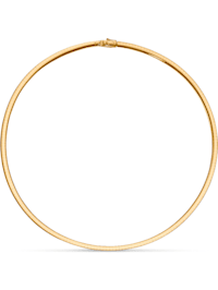 CHRIST Damen-Halsreif 585er Gelbgold, 925er Silber