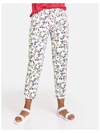 7/8 Hose mit Blumen-Print Slim Peg Leg