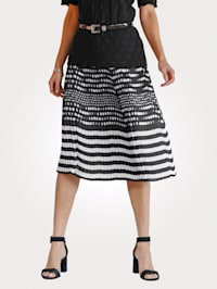 Skirt with print mix