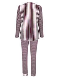 Pyjama met leuk streepdessin