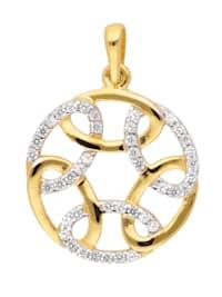 1001 Diamonds Damen Goldschmuck 333 Gold Anhänger mit Zirkonia