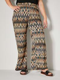 Pantalon à imprimé graphique