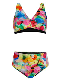 Bikini im farbenfrohen Druck