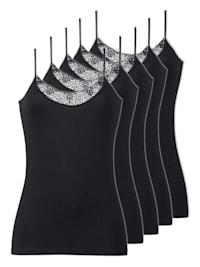 5er Pack Damen Unterhemden