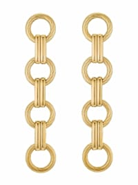 Ohrhänger für Damen, Stainless Steel IP Gold