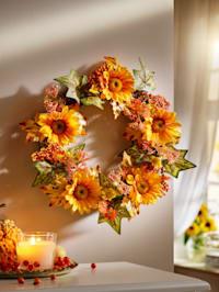 Rattan-Kranz 'Sonnenblumen'