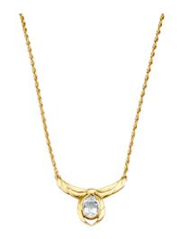 Halsband med droppformad bergkristall