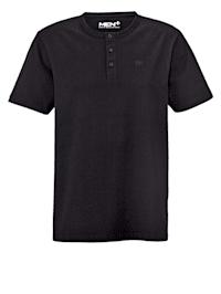 T-shirt med knappar i halsen