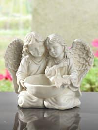 Engelpaar mit Vogeltränke