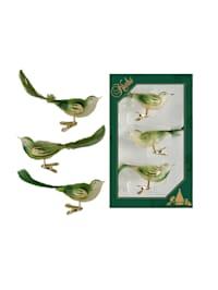 Christbaumschmuck-Set 'Vogelclips'