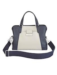 Handtasche in zweifarbigem Design