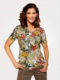Shirt im hübschen Dschungel-Dessin