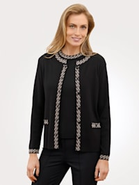 Cardigan with contrast detailing
