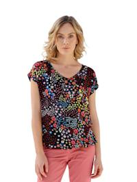 T-shirt à motif floral devant et dos