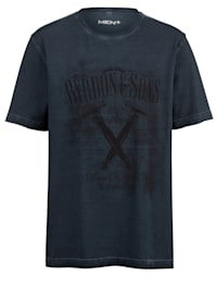 T-shirt in oil washed look