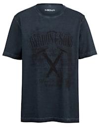 Tričko v Oil-washed vzhledu