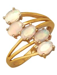 Damesring met opalen