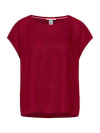 Blusenshirt in Unifarbe