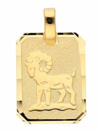 1001 Diamonds Damen & Herren Goldschmuck 333 Gold Sternzeichen Anhänger Widder