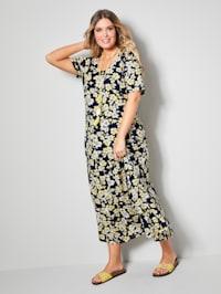 Maxi-jurk in licht uitlopend model