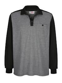 Poloshirt in raglanlook