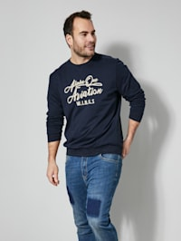 Sweatshirt in melierter Optik