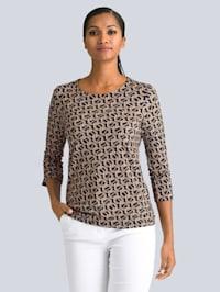 Druck-Shirt mit modischem Allover-Print