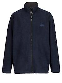 Fleecová bunda s lemovaným zipem