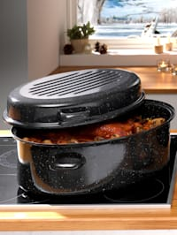 Geëmailleerde ovale braadpan, inhoud ca. 9 liter