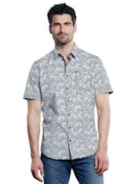 Halbarm-Hemd gemustert