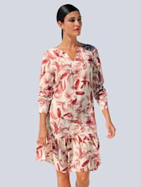 Kleid mit modischem Tropical-Dessin