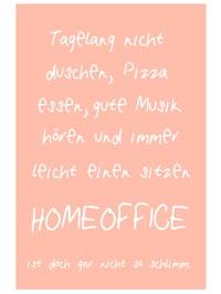 """Metallschild """"Homeoffice"""""""