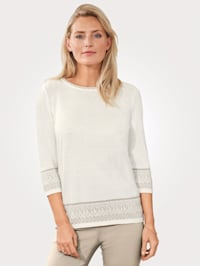 Pullover mit Muster am Armabschluss