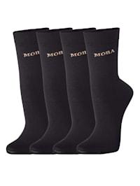 Dámske ponožky s komfortnou manžetou