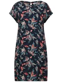 Dobby Kleid mit Print