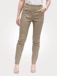 Kalhoty ze žakárové kvality