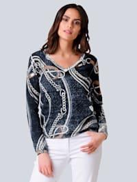 Pullover mit Alba Moda exklusivem Print