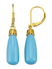 Boucles d'oreillesc avec turquoises (rec.)