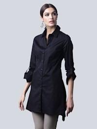 Blus i trendigt lång modell