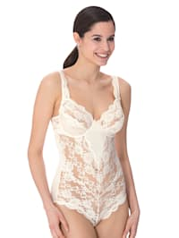 Body with elasticated lace