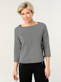 Sweatshirt mit Minimal-Jacquard