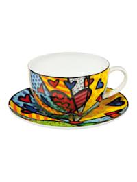 Tee-/ Cappuccinotasse Romero Britto - A New Day