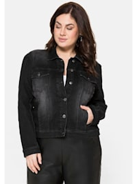 Jeansjacke in taillierter, verkürzter Form