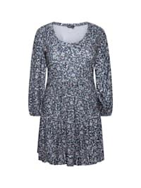Jerseykleid Kleid mit abstraktem Aufdruck